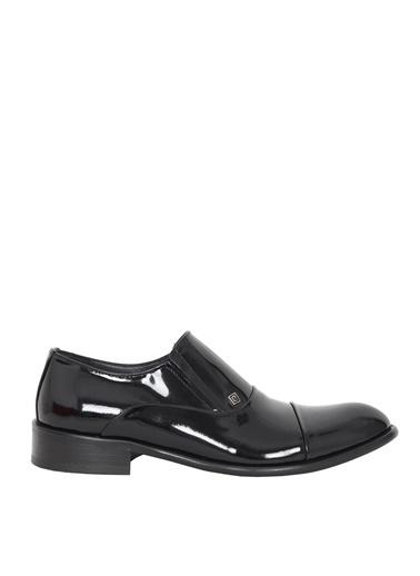 Derigo Derigo 8257 Kösele Taban Deri Rugan Erkek Klasik Ayakkabı Siyah